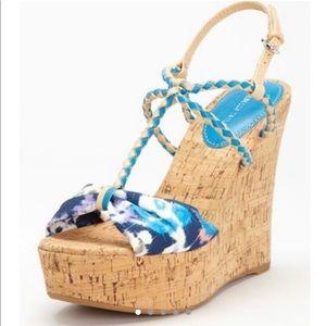 Rebecca Taylor Naomi Platform Wedge Sandal